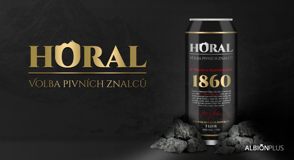 Horal – Volba pivních znalců 12° 1L Tmavý ležák v plechu