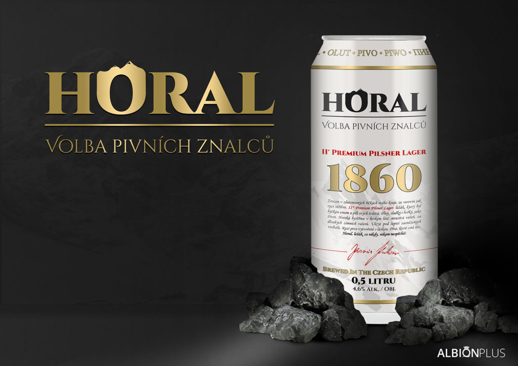 Horal – Volba pivních znalců 11° 0,5L Světlý ležák v plechu