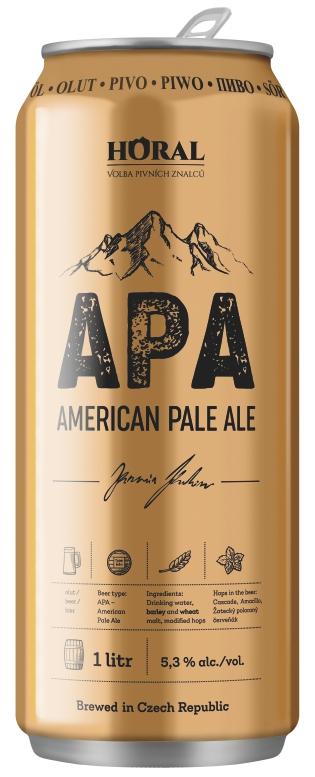 """"""" Horal """" pivní speciál – APA – 1000 ml"""